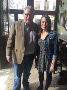 Gustavus History Professor Greg Kaster and History Alum Allie Skjerven Boyd at The Local in Downtown Minneapolis